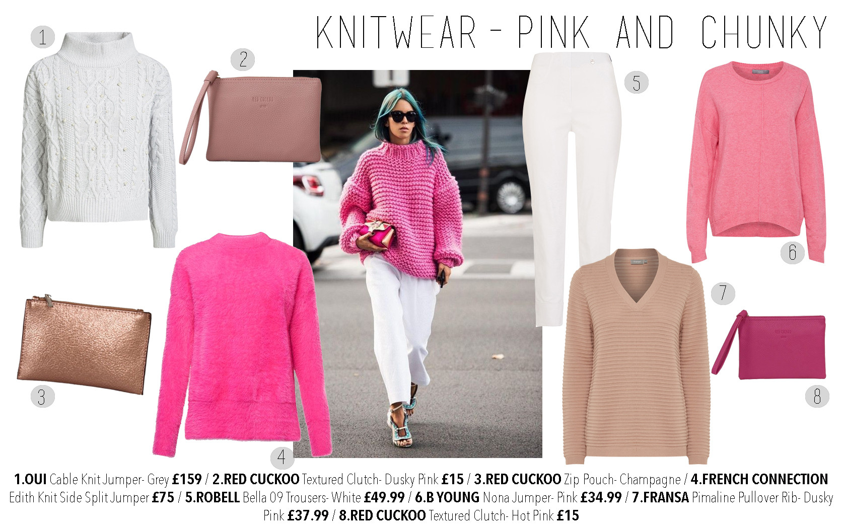 Knitwear pink and chunky
