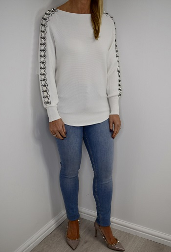 Drew Jumper styled French Connection Rebound Skinny Jeans