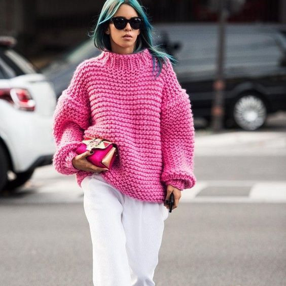 Knitwear | Pink and Chunky