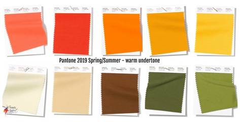 Pantone 2019 spring/summer colours