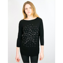 Lucy Cobb Penny Jumper  - Black