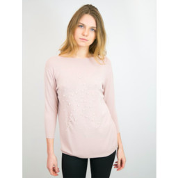 Lucy Cobb Penny Jumper  - Dusky Pink