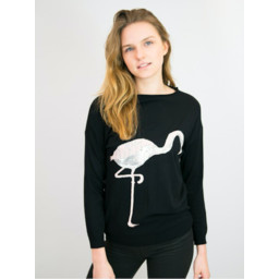 Lucy Cobb Flamingo Jumper - Black