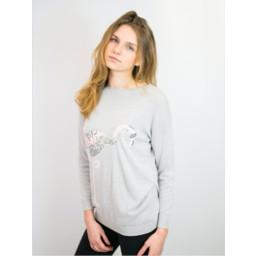 Lucy Cobb Flamingo Jumper - Grey