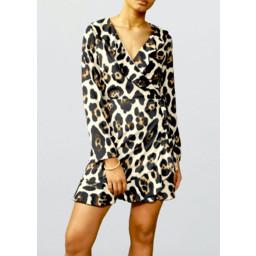 John Zack Animal Print Wrap Dress - Animal Print