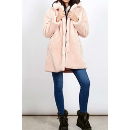 Lucy Cobb Tilly Fur Coat - Pink