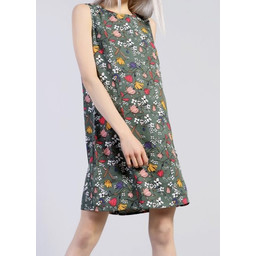 Glamorous Sage Floral Print Dress - Green