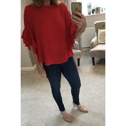 Lucy Cobb Frankie Blouse - Red