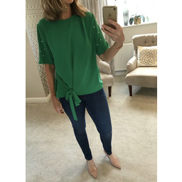 Lucy Cobb Penelope Top - Golf Green