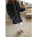Tilly Fur Coat - Blue