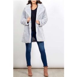 Lucy Cobb Tilly Fur Coat - Grey