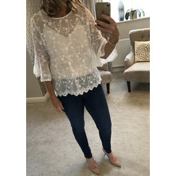 Lucy Cobb Pippa Top - Ivory