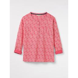 White Stuff Holiday Henley Jersey Shirt - Pink