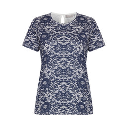 Fransa Nikam T Shirt - Navy Mix