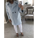 Zoe Coat - Soft Blue