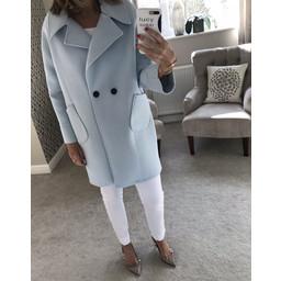 Deck Zoe Coat in Soft Blue