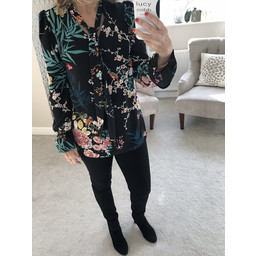 John Zack Pussy Bow Blouse - Floral