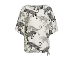 Oui Panther Blouse  - Off-White