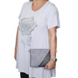 Malissa J Rose Swing Style Top - Grey
