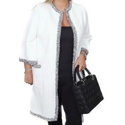 Malissa J Carrie Coatigan  - Winter White