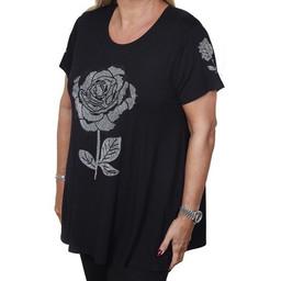 Malissa J Rose Swing Style Top - Black