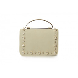 Malissa J Pearl Grab Bag in Cream