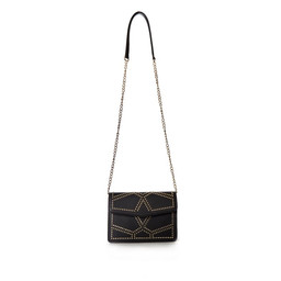 Malissa J Studded Cross Body Bag - Black