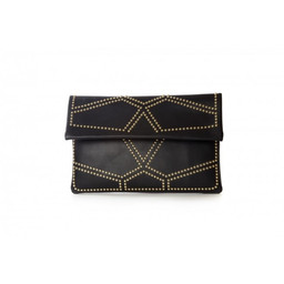 Malissa J Studded Clutch Bag - Black
