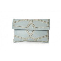 Malissa J Studded Clutch Bag - Blue