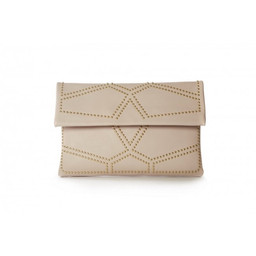 Malissa J Studded Clutch Bag in Pink