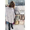 Sparkle Star Poncho - Light Grey - Alternative 1