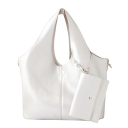 Lucy Cobb Slouch Bag in a Bag - Silver