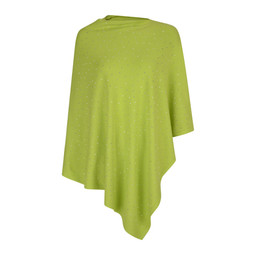 Lucy Cobb Sparkle Stud Poncho in Lime Green