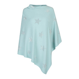 Lucy Cobb Sparkle Star Poncho in Anis