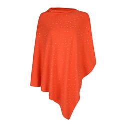Lucy Cobb Sparkle Stud Poncho - Orange