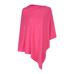 Lucy Cobb Sparkle Stud Poncho - Pink