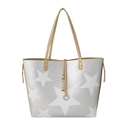 Lucy Cobb Reversible Star Bag with Clutch - Gold Silver