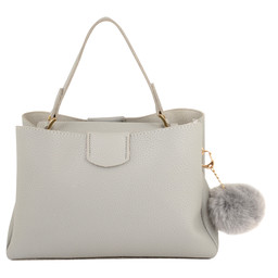 Lucy Cobb Missi Top Handle Bag - Grey