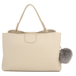 Lucy Cobb Missi Top Handle Bag - Beige