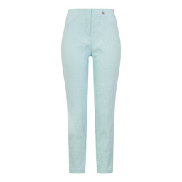 Robell Bella 09 Jacquard Trousers in Aqua Turquoise