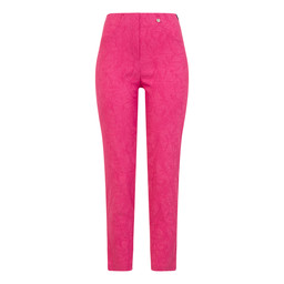 Robell Bella 09 Jacquard Trousers in Pink