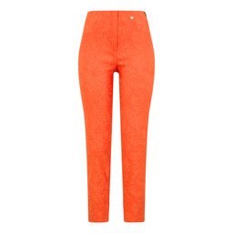 Robell Trousers Bella 09 Jacquard Trousers in Orange