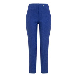 Robell Trousers Bella 09 Jacquard Trousers in Royal (67)