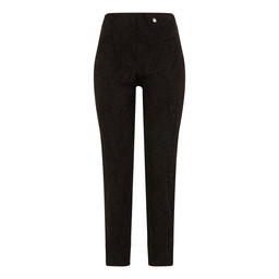Robell Trousers Bella 09 Jacquard Trousers in Black
