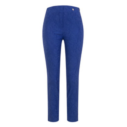 Robell Trousers Rose 09 Jacquard Trousers in Royal (67)