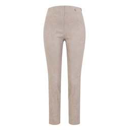 Robell Rose 09 Jacquard Trousers in Light Taupe
