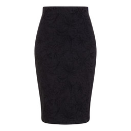 Robell Trousers Christy Jacquard Skirt - Navy