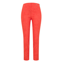 Robell Trousers Rose 09 Jacquard Trousers in Tropicana Orange