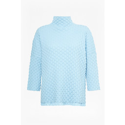 French Connection Mona Mozart Knit Oversized Jumper in Soft Blue