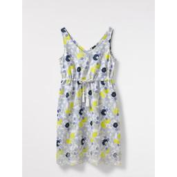 White Stuff Lela Lemon Broidery Dress - Lemon